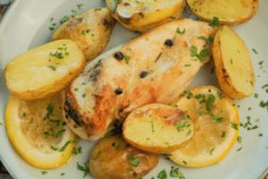 Receta de Pechuga de pollo al horno con papas