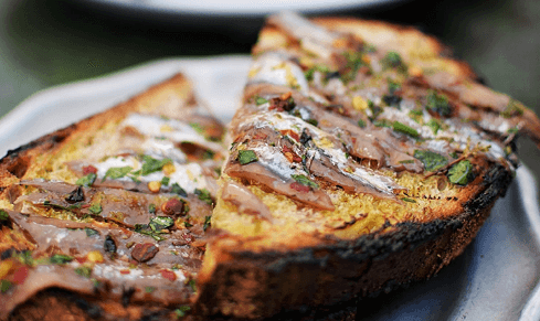 Receta de tostadas de anchoas