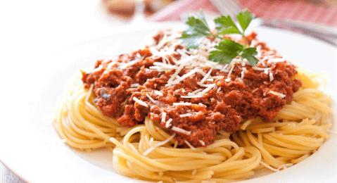 receta de espagueti con carne de res
