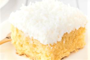 Pastel de coco rallado
