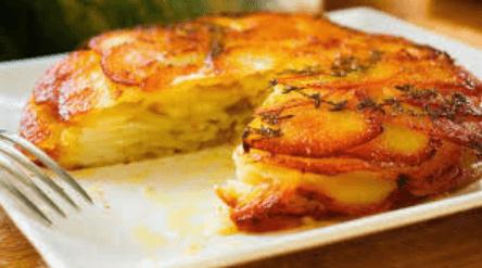 Pastel de papas con queso