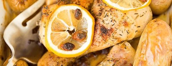 Pollo dietético al horno