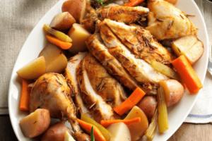 Pollo con verduras thermomix