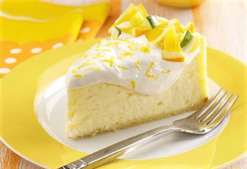 Tarta de queso y limón al horno