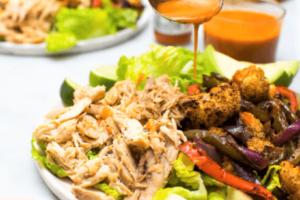 Ensalada de pollo con verduras