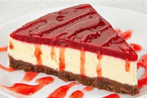 Tarta de queso sin horno con gelatina