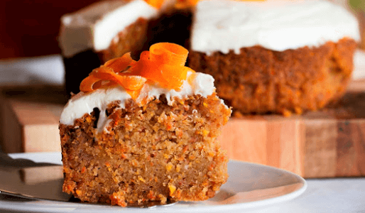 Tarta de zanahoria y naranjas