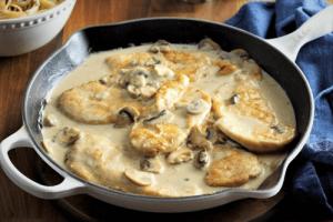 pollo en salsa blanca es una exquisita receta