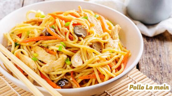 Receta de pollo Lo mein