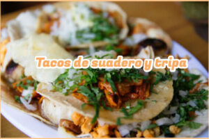 Tacos de suadero y tripa